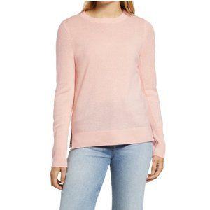Halogen Crewneck Cashmere Sweater Pink XL NWT